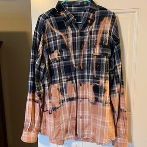 Tops - Size Large dip dye flannel